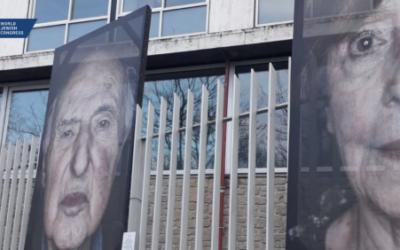 L'exposition « Lest We Forget » du photographe germano-italien Luigi Toscano, au siège de l'UNESCO, à Paris. (Crédit : UNESCO / CRIF / WJC)