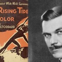 'The Rising Tide of Color,' publié par Lothrop Stoddard en 1920 (Crédit : Domaine public)