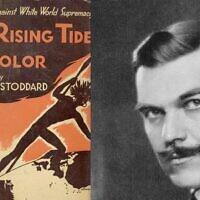 'The Rising Tide of Color,' publié par Lothrop Stoddard en 1920 (Crédit : Domaine public)