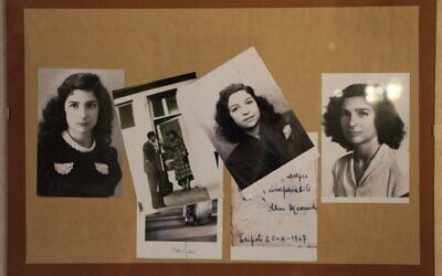 Messauda Fadlun, sur de vieilles photos, vivait en Libye en 1938, alors sous contrôle italien et sous les lois racistes visant la communauté juive. (Crédit : Ariel Finzi/ via JTA)