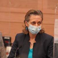 Sharon Alroy-Preis, cheffe de la division de santé publique au sein du ministère de la Santé. (Porte-parole de la Knesset)