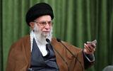 Le guide suprême iranien, l'ayatollah Ali Khamenei, s'adresse à la nation dans un discours télévisé marquant l'anniversaire du prophète de l'islam Muhammad, à Téhéran, Iran, le 3 novembre 2020. (Bureau du guide suprême iranien via AP)