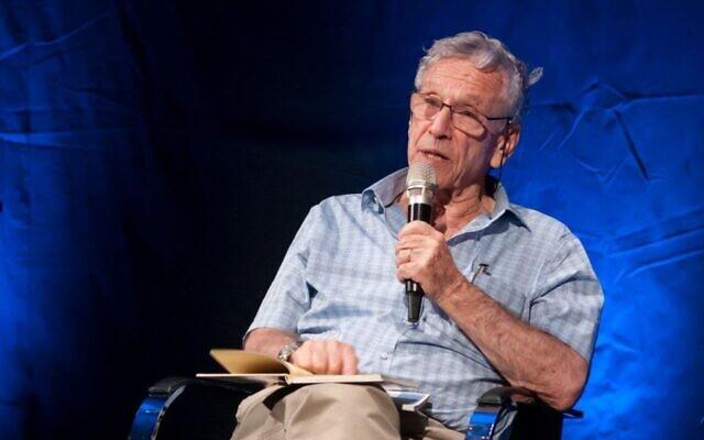L'auteur israélien Amos Oz au Beit Avi Chai à Jérusalem. (Autorisation)