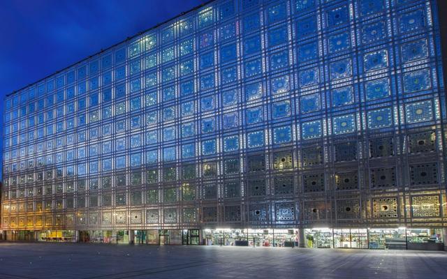 L'Institut du monde arabe, à Paris. (Crédit : Thierry Rambaud / IMA)