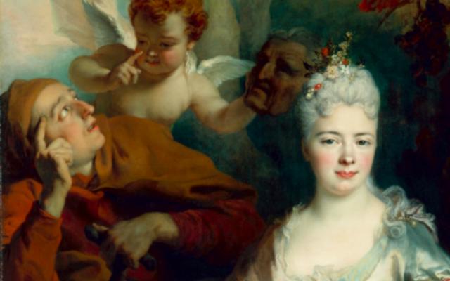 «Portrait de dame en Pomone», Nicolas de Largilliere, date inconnue. (Crédit : Domaine public / Staatliche Kunstsammlungen Dresden / Famille Strauss)