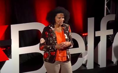 Sophie Elizéon à la conférence TEDxBelfort en 2018. (Crédit : Capture d'écran YouTube TEDx Talks)