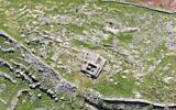 """""""L'autel de Josué"""" sur le site archéologique du Mont Ebal, 15 février 2021. (Autorisation de Shomrim Al Hanetzach)"""