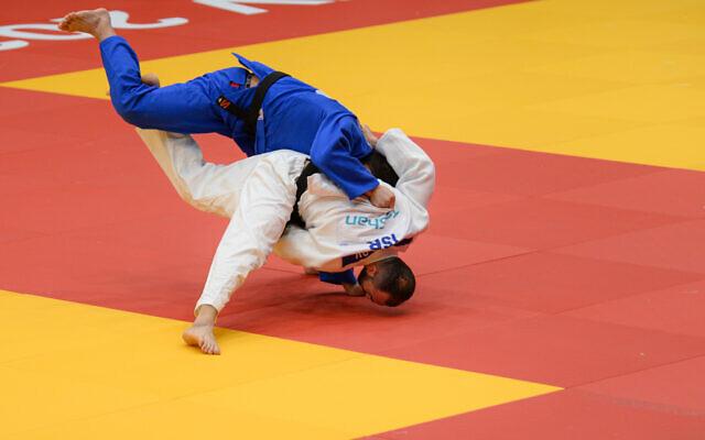 Illustration : Une épreuve de judo organisée à Tel-Aviv en 2020. (Crédit : Flash90)