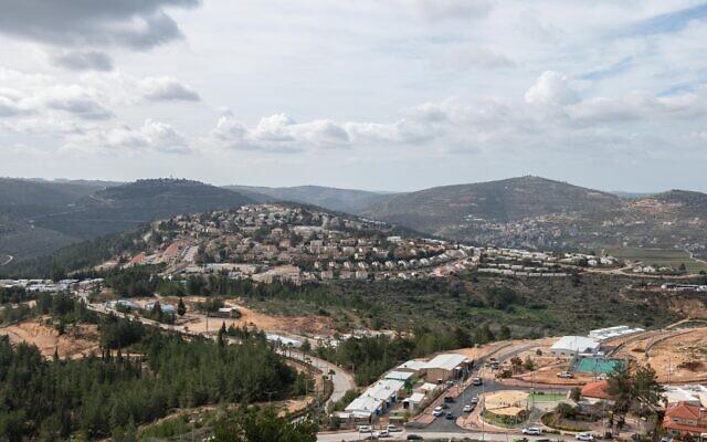 Vue de l'implantation d'Eli, en Cisjordanie, le 17 janvier 2021. (Crédit :  Sraya Diamant/Flash90)