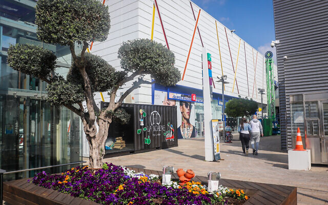 Le centre commercial BIG d'Ashdod, le 7 février 2021. (Crédit : Yossi Aloni/Flash90)