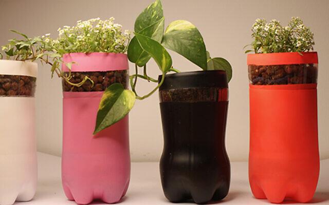 Les pots de fleurs intelligents de Pots Farms. (Crédit : Université de Tel Aviv)