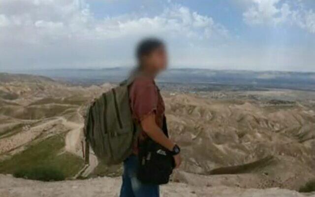 La femme israélienne qui est entrée en Syrie et qui a été renvoyée dans le cadre d'un accord négocié par la Russie, sur une photo montrée par la Douzième chaîne, le 20 février 2021. (Capture d'écran de la Douzième chaîne)