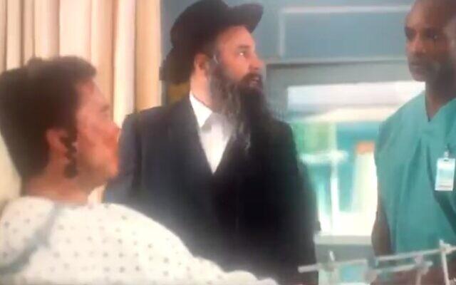 """Une scène de """"Nurses"""", qui a été diffusée sur NBC le 9 février 2021. (Capture d'écran/ Twiter)"""