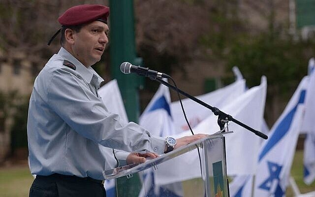 Le général Aharon Haliva lors d'une cérémonie en juin 2014. (Armée d'Israël)