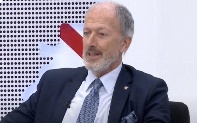 Jorge Knoblovits, qui est à la tête de l'organisation-cadre DAIA en Argentine. (Capture d'écran :  YouTube via JTA)