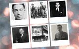 Dans le sens des aiguilles d'une montre à partir du coin supérieur gauche : Philip Sassoon, à la fois gay et antisémite ; le chef de la SA Ernst Röhm, à gauche, et son adjoint Edmund Heines, à droite ; Ronald Cartland ; Victor Cazalet ; le club gay de Berlin Eldorado ; et Robert Bernays. (Domaine public ; Bundesarchiv Bild)