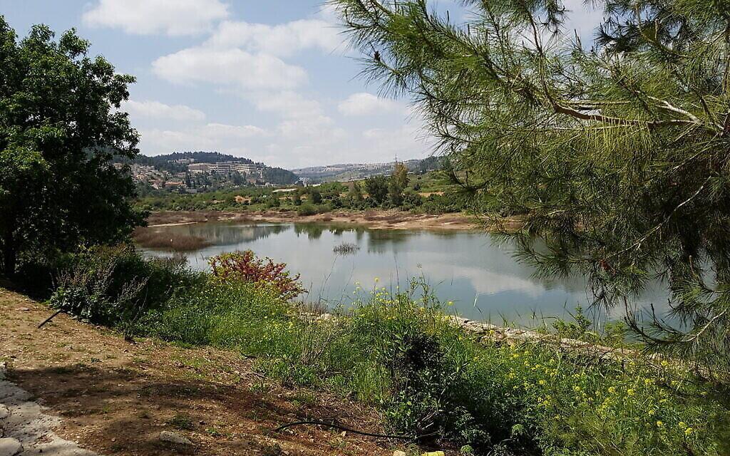 La piste inférieure à Beit Zayit. (Shmuel Bar-Am)