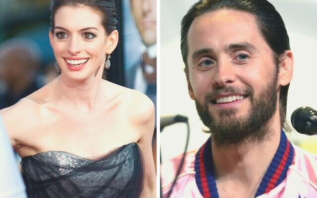Anne Hathaway / Jared Leto. (Crédit : Wikimedia Commons)