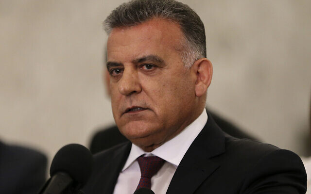 Le major général Abbas Ibrahim, chef de la Direction générale de la sécurité libanaise, au palais présidentiel à Baabda, à l'est de Beyrouth, le 11 juin 2019. (AP Photo / Hussein Malla)