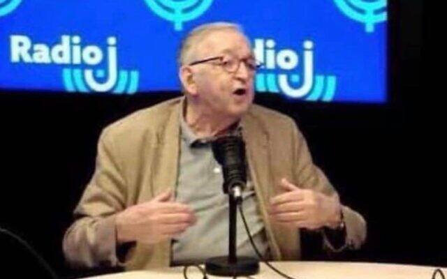 Serge Hajdenberg, fondateur et président d'honneur de Radio J. (Crédit : capture d'écran Radio J)