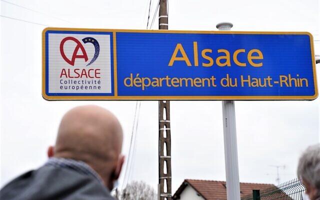 Un panneau de la Collectivité européenne d'Alsace. (Crédit : Toute l'Alsace / Facebook)