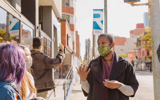 Annamie Paul dans le centre-ville de Toronto en 2020. (Autorisation)