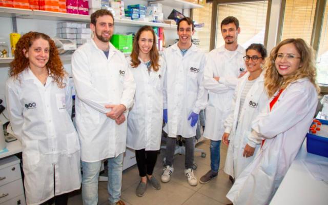 Dr.Natalia Freund et son équipe de chercheurs de l'université de Tel Aviv. (Crédit :Université de Tel Aviv)
