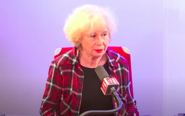 Olivia Zemor, directrice de publication du site Europalestine. (Capture d'écran : YouTube / RFI)