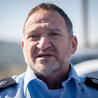 Le chef de la police israélienne Kobi Shabtai. (Crédit : Yonatan Sindel/Flash90)