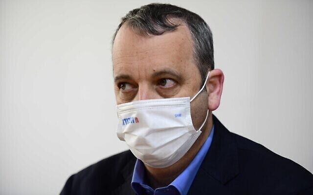 Le rabbin Gilad Kariv lors d'une réunion du Parti travailliste à Tel Aviv, le 24 mars 2021, au lendemain des élections pour la 24e Knesset. (Tomer Neuberg / Flash90)