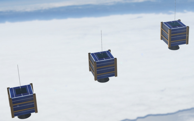 Image d'illustration : trois nano-satellites (Crédit : Rick_Jo via iStock by Getty Images)