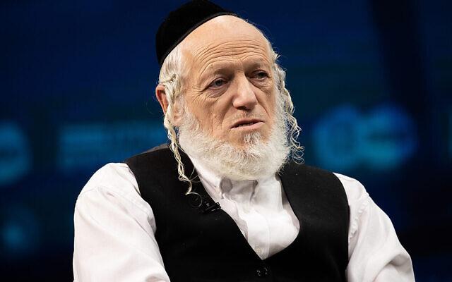 Yehuda Meshi-Zahav, co-fondateur de la ZAKA, s'exprime lors d'une conférence à Jérusalem, le 7 mars 2021. (Crédit : Yonatan Sindel/Flash90)