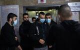 Ibrahim Hamed, le chauffeur accusé d'avoir écrasé un homme dans le quartier de Mea Shearim à Jérusalem, devant le siège de la police de la circulation après sa libération, le 2 mars 2021, à Jérusalem. (Yonatan Sindel/Flash90)