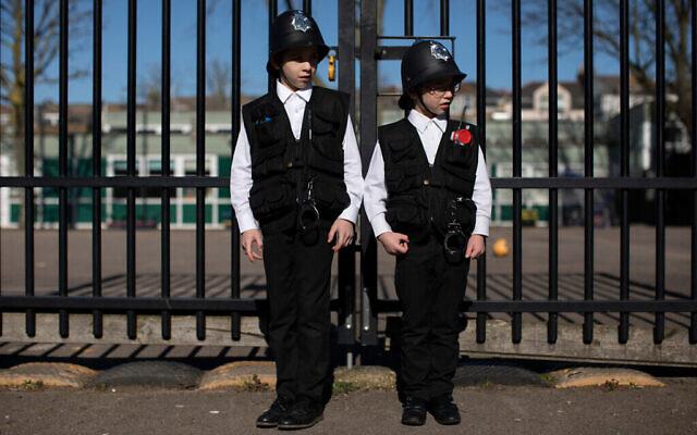Pourim à Londres. (Dan Kitwood/Getty Images via JTA)