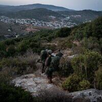 """Illustration : des soldats de Tsahal participent à un exercice de grande envergure, """"Flèche mortelle"""", qui simule la guerre dans le nord en octobre 2020. (Armée israélienne)"""