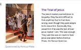 Un extrait d'un diaporama utilisé pour un devoir à la maison qui attribue aux Juifs la responsabilité de la mort de Jésus. (Crédit :  Joanne Bell via Topmarks/Twitter/JTA))