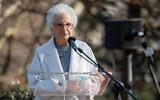 Liliana Segre prend la parole lors d'une cérémonie à Milan, en Italie, en l'honneur des sauveteurs de Juifs pendant la Shoah, le 5 mars 2021. (Alessandro Bremec/NurPhoto via Getty Images/JTA)