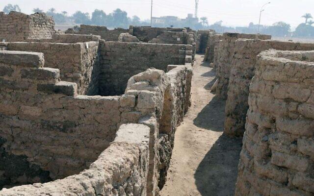 La «ville perdue» récemment découverte près de Louxor, en Egypte. (Autorisation / Zahi Hawass Center For Egyptology)