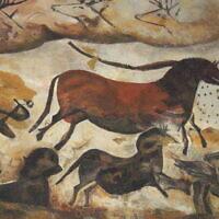 Des chevaux peints dans les grottes de Lascaux. (Crédit : Wikimedia)