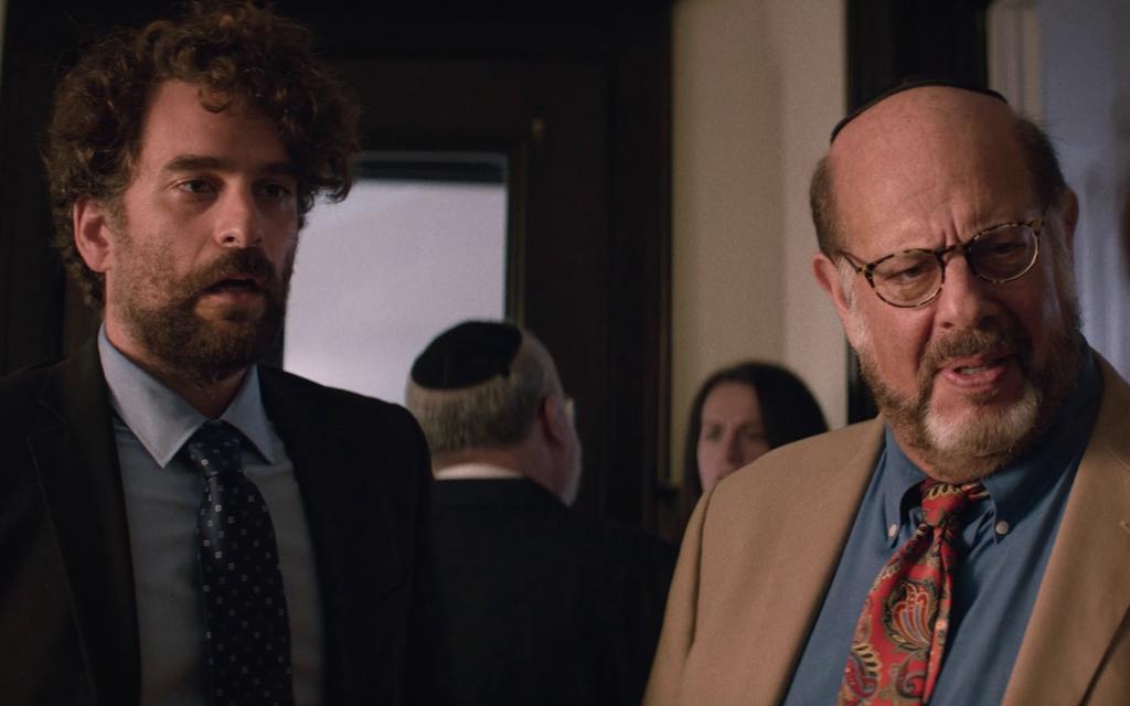 """Danny Deferrari, à gauche, et Fred Melamed dans """"Shiva Baby"""" d'Emma Seligman. (Autorisation)"""