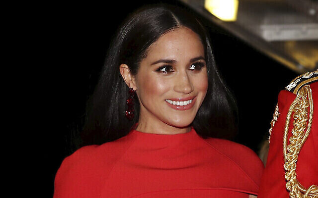 Meghan Markle arrive au Royal Albert Hall de Londres pour assister au Mountbatten Festival of Music, le 7 mars 2020. (Simon Dawson / Pool via AP, File)