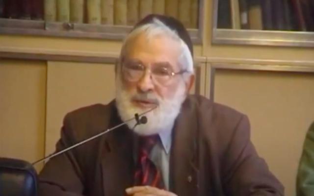 Raphaël Feigelson. (Crédit : Synagogue Vauquelin / Capture d'écran YouTube)