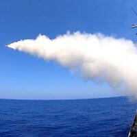 Le missile Sea Serpent d'IAI en action, tiré depuis un navire. (Autorisation)