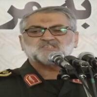 Le général de brigade Abolfazl Shekarchi (Capture d'écran : YouTube)