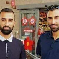 Les frères Salah Abu Hussein (à gauche) et Shafa Abu Hussein (à droite) ont été tués par balle à Tulkarem le 16 avril 2021. (Autorisation)