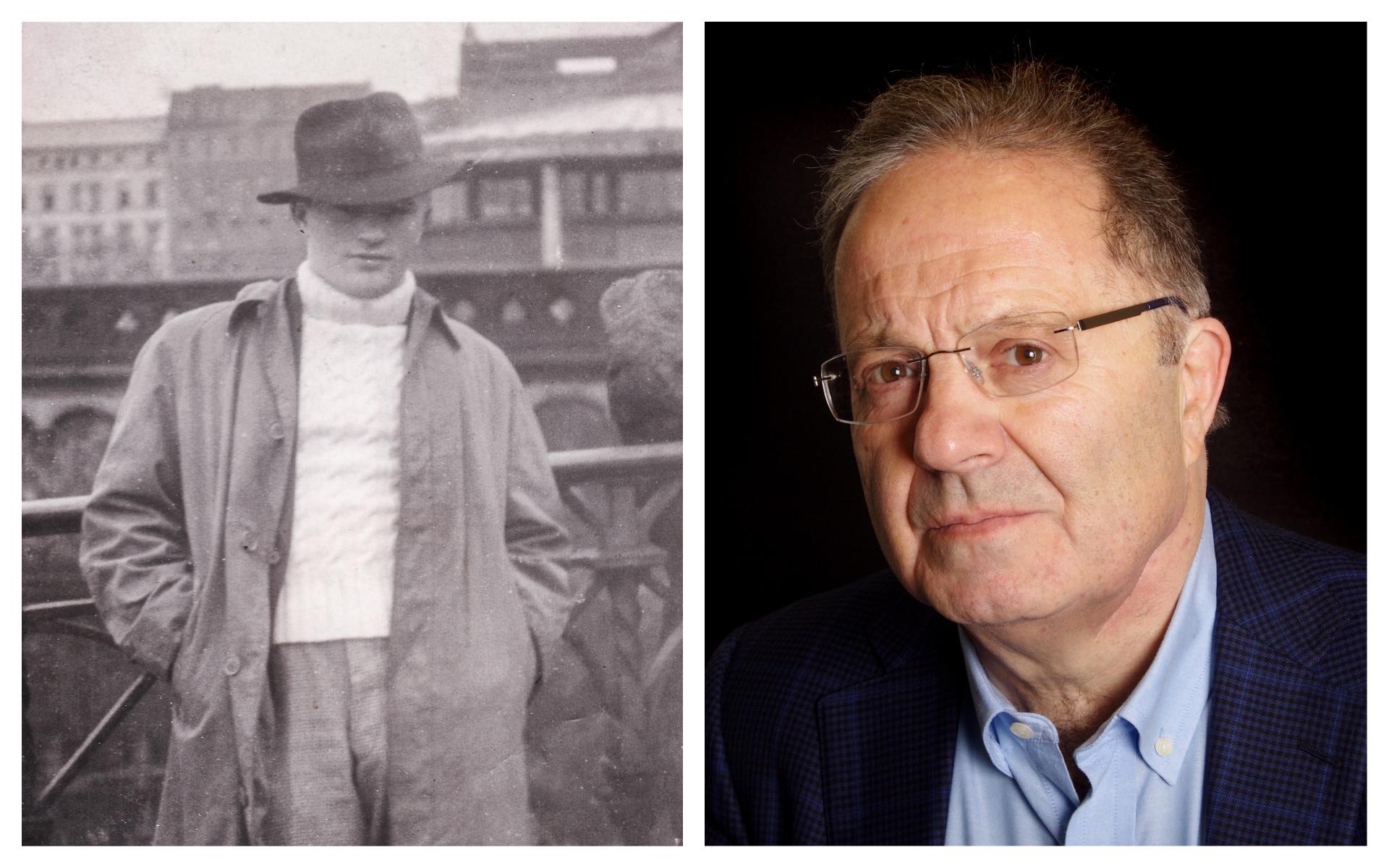 """A gauche : Chaim Herszman en Allemagne en 1946, à droite : John Carr, auteur de """"Escape From the Ghetto"""", l'histoire de la fuite audacieuse de son père pour échapper aux nazis. (Autorisation de John Carr)"""