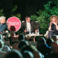 Un événement du festival des auteurs à Mishkenot Shaananim, à Jérusalem, en 2019. (Autorisation : Festival des auteurs)