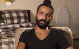 Itzik Saidyan, ancien combattant de Tsahal, s'est immolé par le feu devant un bureau du ministère de la Défense le 12 avril 2021 (Capture d'écran : Douzième chaîne)