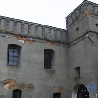 L'ancienne Grande synagogue de Lutsk, en Ukraine. Crédit : Center for Jewish Art/Foundation for Jewish Heritage, via JTA)
