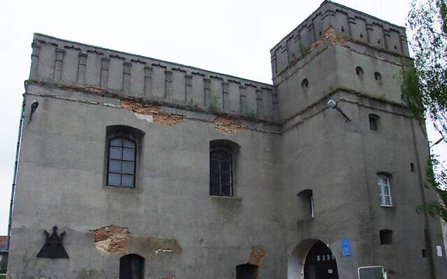 L'ancienne Grande synagogue de Lutsk, en Ukraine. Crédit : Center for Jewish Art/Foundation for Jewish Heritage, via JTA)